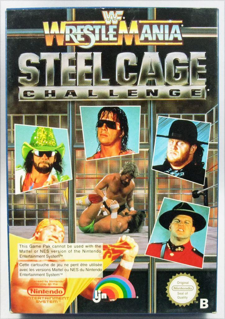 Nintendo Nes Wwf Wrestlemania Steel Cage Challenge Ljn Pal Version