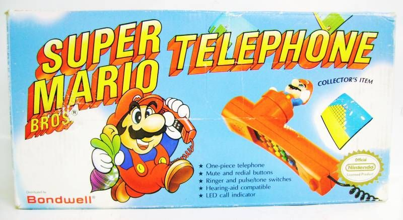 Nintendo Universe - Super Mario Bros  Telephone (red) - Bodwell (mint in  box)