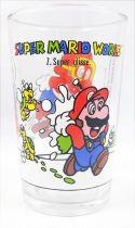 """Nintendo Universe - Super Mario World - Verre à moutarde Amora 1993 - #1 Mario \""""Super Glisse\"""""""