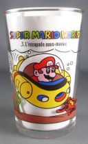 Nintendo Universe - Super Mario World - Verre à moutarde Amora 1993 - #3 L\'Escapade Sous-Marine