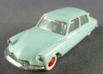 Norev Micro Miniature N°2 Ho 1/86 Citroen Ds 19 Bleu Clair Roues Rouge Lestée
