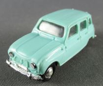 Norev Micro Miniature N°511 Ho 1/86 Renault 4L Bleue Clair Lestée