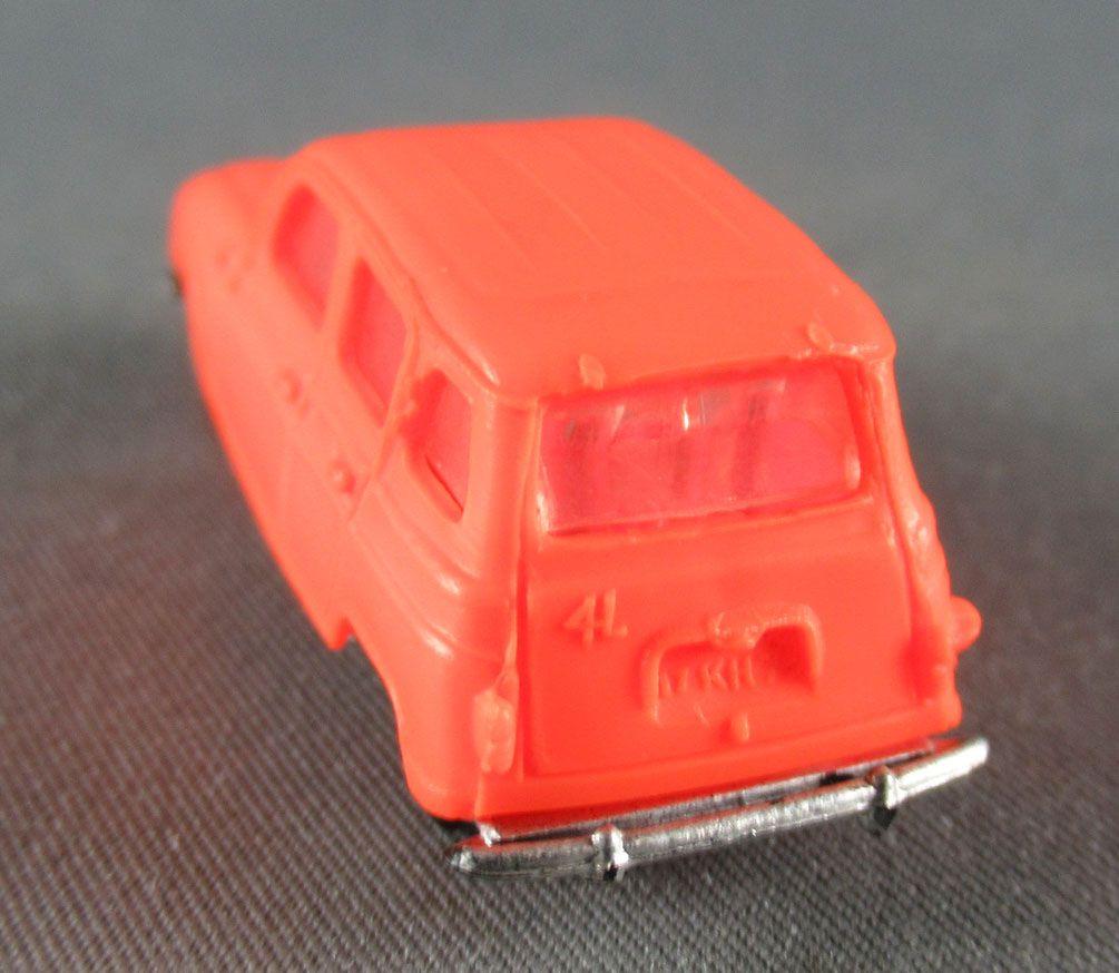 Norev Micro Miniature N°511 Ho 1:86 Renault 4L Orange
