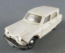 Norev Micro Miniature N°512 Ho 1/86 Citroën Ami 6 Grise Roues Métallisées