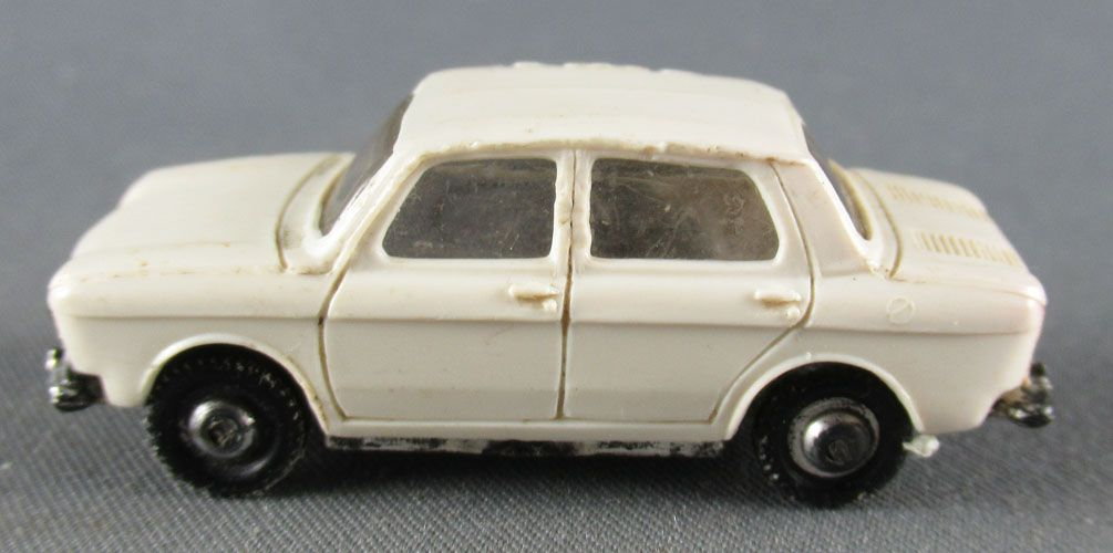 Norev Micro Miniature N°519 Ho 1:86 Simca 1000 White Metallized Wheels Weighted