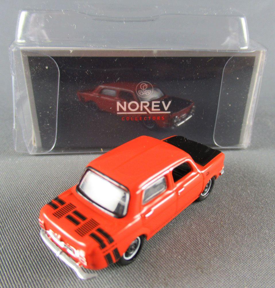 Norev Micro Miniature N°571093 Ho 1:86 Simca 1000 Rallye 2 1974 Sumatra Red Mint in Box