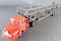Norev Micro-Miniatures Ho 1/87 Red Unic Truck with 2 Levels Trailer for Cars