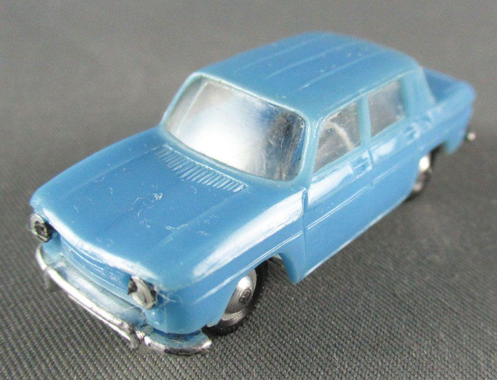 Norev Micro-Miniatures N°514 Ho 1:86 Renault 8 Blue Metallized Wheels