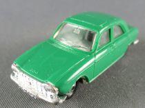 Norev Micro-Miniatures N°532 Ho 1:86 Peugeot 204 Green Metallized Wheels