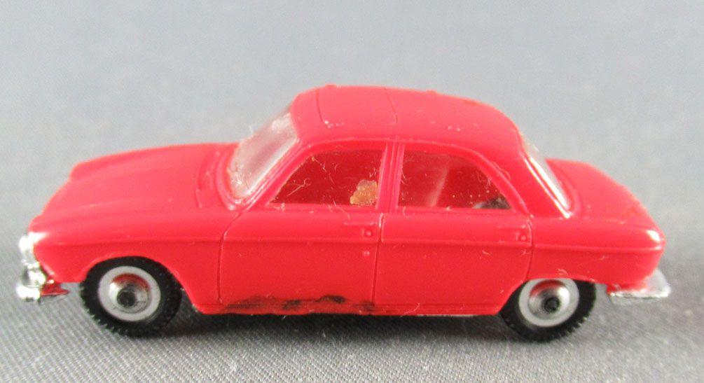 Norev Micro-Miniatures N°532 Ho 1:86 Peugeot 204 Red Metallized Wheels