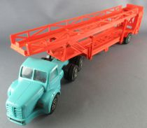 Norev N° 95 Berliet Tbo 15 Truck with Double Deck Cars Transport Trailer 1:43