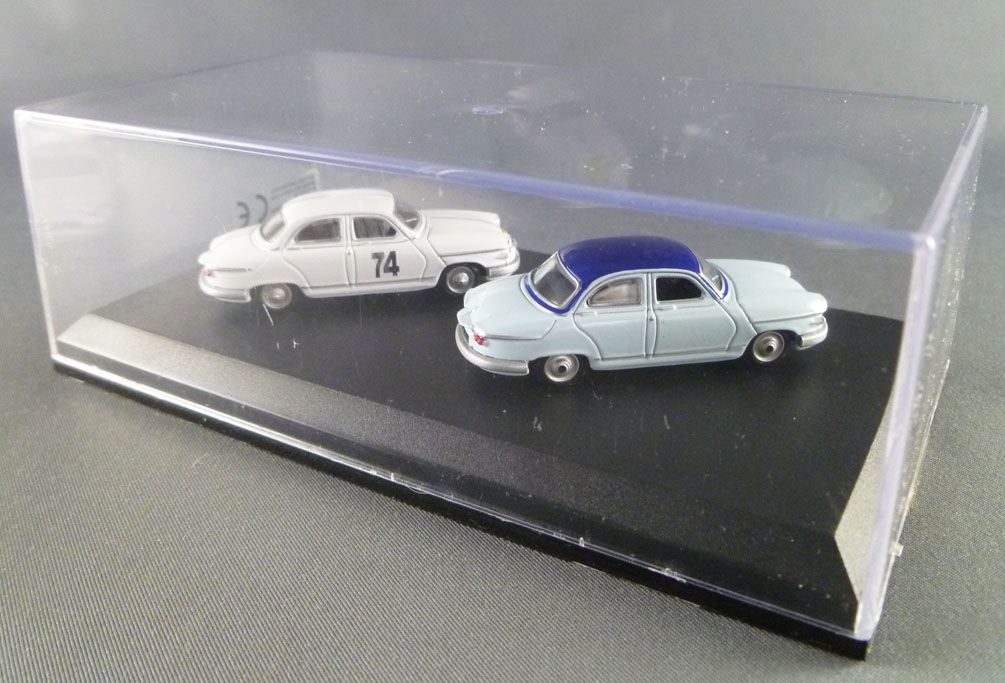 Norev Universal Hobbies for Atlas Ho 1/87 1961 Panhard PL 17 + 1961 Panhard PL 17 Rallye Mint in box