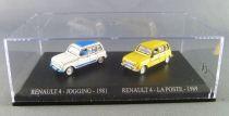 Norev Universal Hobbies for Atlas Ho 1/87 1981 Renault 4 Jogging + 1989 Renault 4 La Poste Mint in box