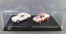 Norev Universal Hobbies pour Atlas Ho 1/87 Peugeot 304 Berline - 1977 + 304 SLS Tour de Corse - 1973 Neuf Boite