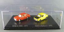 Norev Universal Hobbies pour Atlas Ho 1/87 Simca 1000 - 1973 + Simca Rallye 2 - 1973 Neuf Boite
