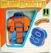 NumeRobots - Number 9 (Orange & Blue)