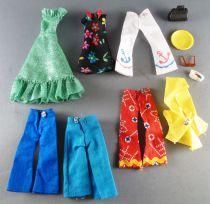 Palitoy Meccano - Pippa - Lot Vêtement Robe Pantalons Imper Lunettes Sac
