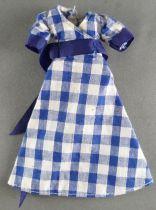 Palitoy Meccano - Pippa - Robe Vichy Bleu avec Ceinture Tissus