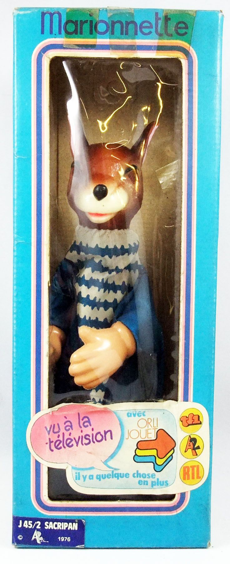 Père Lipopette et Sacripan - Sacripan hand puppet - Orli Jouet Antenne2 1976