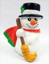 Père-Noël et ses amis - Figurine PVC Schleich - Bonhomme de neige