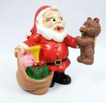 Père-Noël et ses amis - Figurine PVC Schleich - Père-Noël et l\'ours en peluche