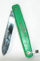Peter Pan - Green vintage small knife