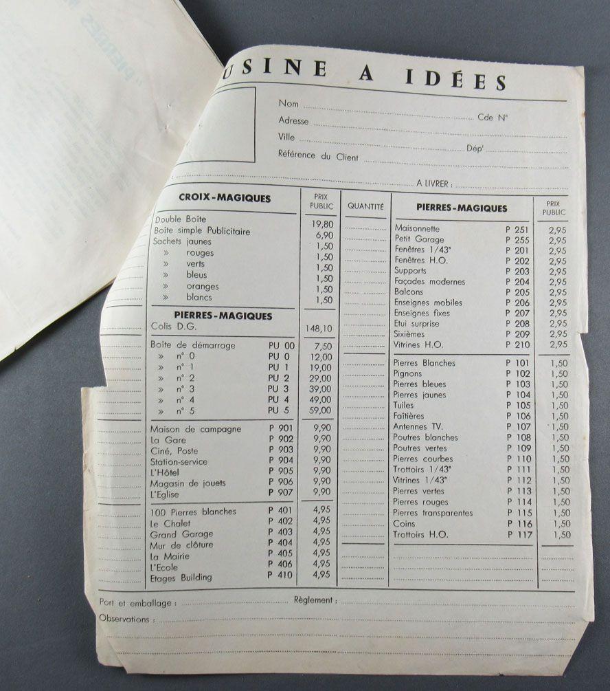 Pierres Magiques 1961 Retailer Tariff and Advertising Mail