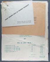Pierres Magiques Tarif Professionnel et Courrier Publicitaire 1961 Usine à Idées