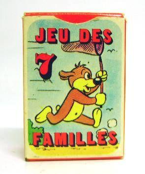 Pif Gadget - 7 families card game with box Pif