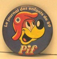 Pif Gadget - Button Pif le journal des enfants 89