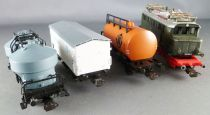 Piko 5/0747/000 Ho Dr Goods Set Electric Loco BR 244 06863 + 3 Wagons + Tracks Mint in box