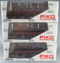 Piko 58065 Ho Sncf Set of 3 x 2 Axles Flat Wagon Stuttgart Type Epok 3 Mint in box