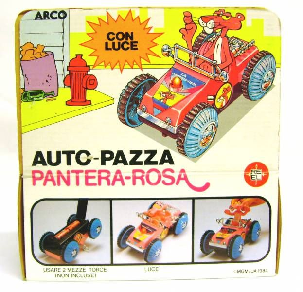 Pink Panther - Arco Ltd 1984 - Electric vehicle with light (Mint in box)