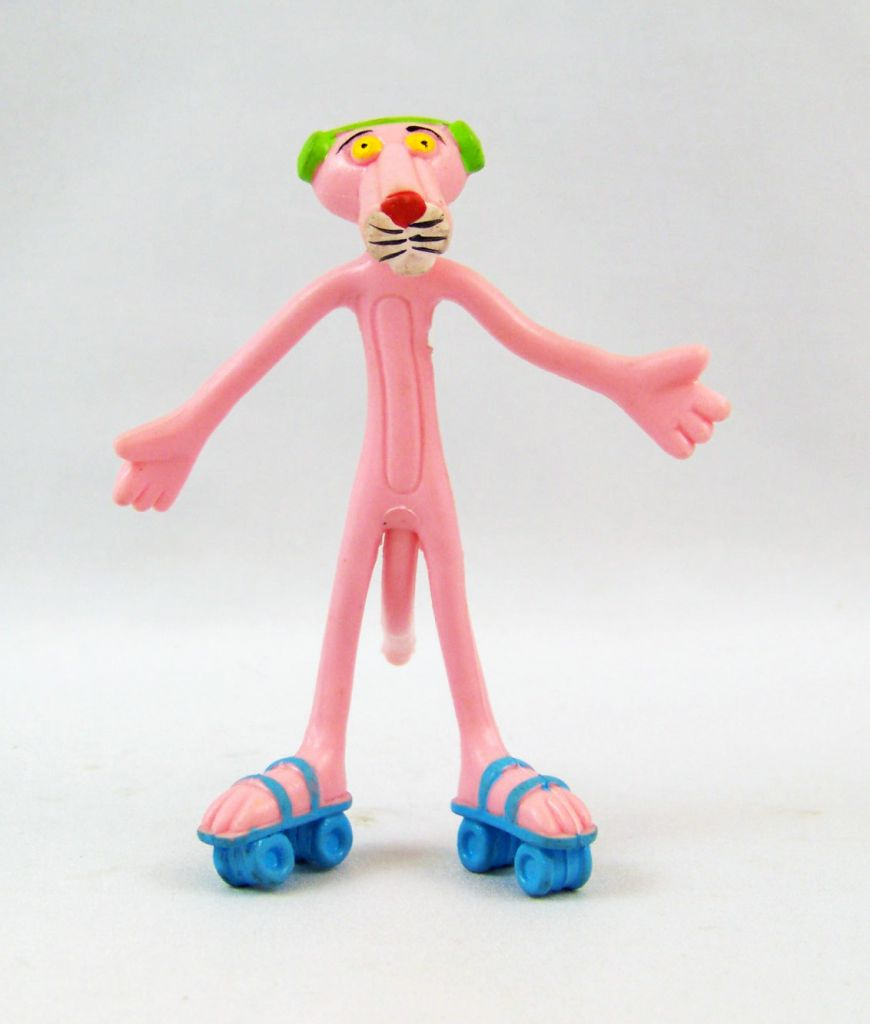 Pink Panther - Bendable Figure San Carlo Promotion -  Rollers & Walkman