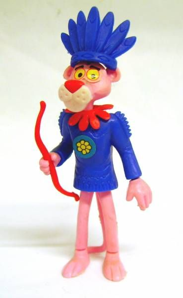 Pink Panther - Kinder 1989 -  Indian Chief Pink
