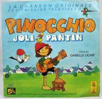 Pinocchio (Série TV) - 45T Pinocchio Joli Pantin - Disques Adès  Le Petit Menestrel 1980