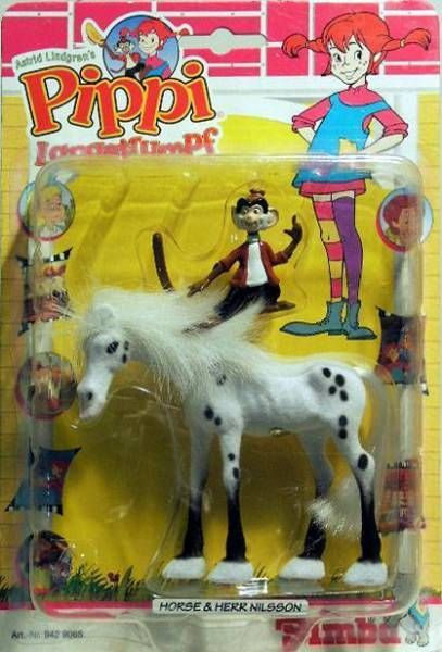 Pipi Langstrumpf  , pvc figure , Horse and Pipi with night outfit
