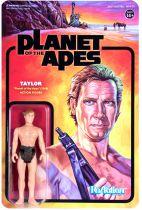 Planet of the Apes - Set of 6 ReAction figures : Cornelius, Zira, Taylor, Nova, Dr. Zaius, General Ursus - Super7