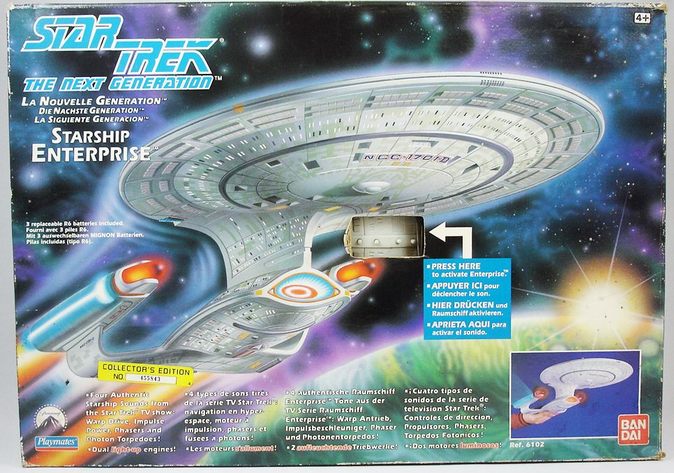 playmates star trek the next generation uss enterprise 1701 d