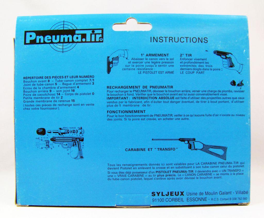 Pneuma.Tir - Syljeux France - Black Translucent Gun (mint in box)