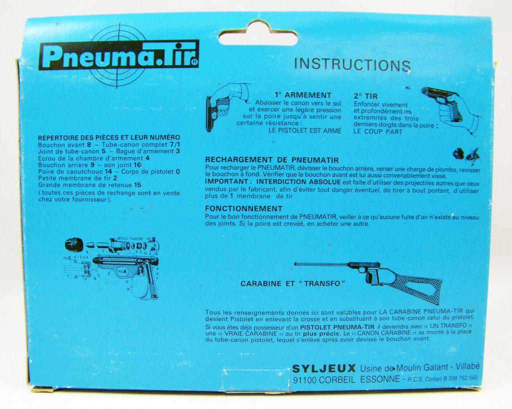 Pneuma.Tir - Syljeux France - Military Khaki Gun (mint in box)