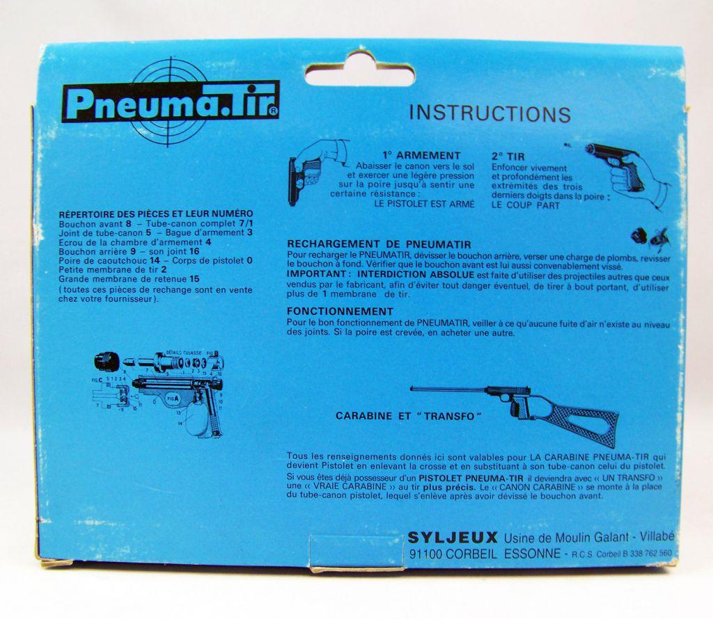 Pneuma.Tir - Syljeux France - Red Translucent Gun (mint in box)