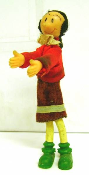 Popeye - Bendable figure with clothes - Olive Oyl