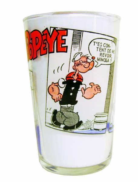 Popeye - Ducros mustard glass - Popeye & Swee\'Pea