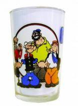 Popeye - Ducros mustard glass - Popeye, Olive Oyl, Bluto & J. Wellington Wimpy