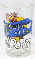 Popeye - Ducros mustard glass - Popeye in airplane