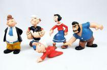 Popeye - Serie de 5 Figurines PVC Maia & Borges : Popeye, Olive, Mimosa, Gontran, Brutus