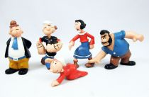 Popeye - Serie de 5 Figurines PVC Maia & Borges : Popeye, Olive, Mimosa, Gontran, Brutus
