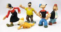 Popeye - Serie de 5 Figurines PVC type JIM : Olive, Gontran, Brutus, Mimosa, Popeye