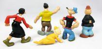 Popeye - set of 5 JIM-type PVC figures - Olive Oyl, Bluto, Swee\'Pea, Wimpy,Popeye